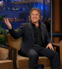 Don Johnson en promo pour Django Unchained au Tonight Show de Jay Leno (05/12/2012)
